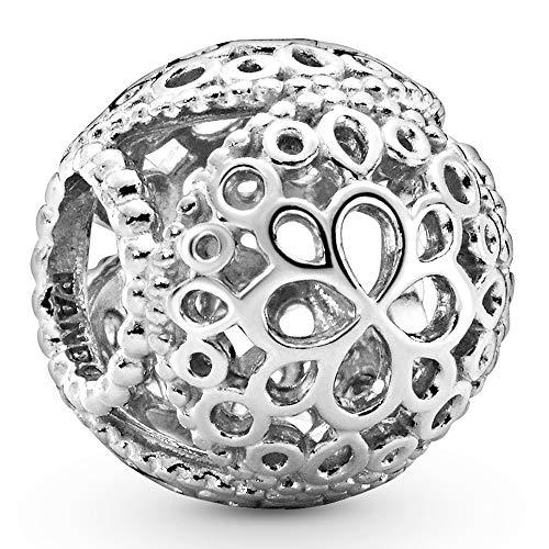 Pandora Jewelry Openwork Flower Sterling Silver Charm