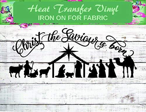 Christ the Savior Shirt, Nativity Iron On, Christmas Shirt, Nativity Shirt, Nativity Christmas Shirt, Kid Jesus Iron On, Scripture Iron On