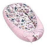 Solvera_Ltd Baby Nest - Reductor para recién Nacidos, Saco de Dormir para bebé, 100% algodón Automobili Talla única (Cañón/Rosado)