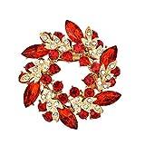 Bobury Cristales Flor Bufanda de Seda Broches Mujeres Pins Clip Hebilla Rhinestone Broche Regalos