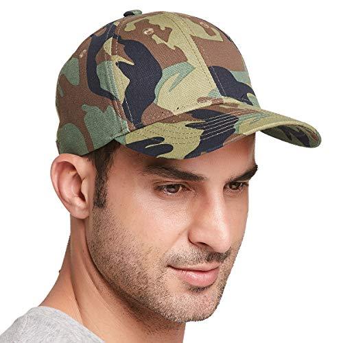 Gisdanchz Army Cap Camo Cap Camouflage Damen Basecap Damen Baseball Cap Herren Mütze Damen Cappy Frauen Kappe Herren Baseballkappe Grün