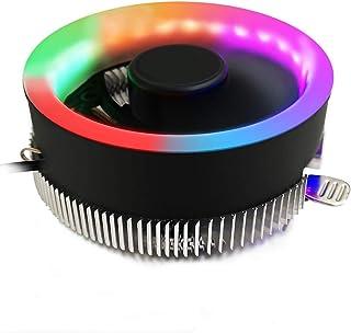 OurLeeme LED RGB Ventiladores de refrigeración de CPU, disipadores de Calor de Flujo de Aire Ultra Muy Alto Enfriadores de CPU para Intel 775 1156 para AMD AM2 AM2 + AM3 AM3 +
