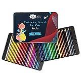 Artina lápices de colores para niños Artilo Set de 48 lápices - Juego L de pinturas para niños de madera FSC irrompibles – para dibujar y colorear – En casa o colegio