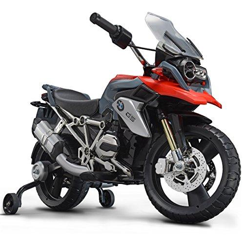 Rollplay Moto elettrica PREMIUM con rotelle, Per bambini da 3 anni, Fino a max. 35 kg, Batteria da 6 Volt, Fino a 4 km/h,Moto BMW 1200, Rosso