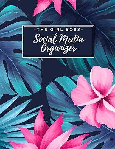 The Girl Boss Social Media Organizer Weekly Social Media Post Planner Content Calendar Keep product image