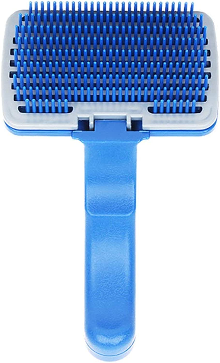 Pet Grooming Brush Professional DeShedding Tool with Grooming Massage One Button Hair Removal for Big Small Long Short Hair Dog Cat Brush (color   bluee, Size   B)