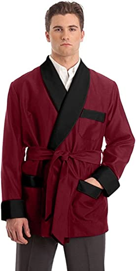 Image result for Men's Silky Satin Smoking Jacket