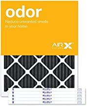 AIRx ODOR 20x25x1 MERV 8 Carbon Pleated Air Filter - Made in the USA - Box of 6