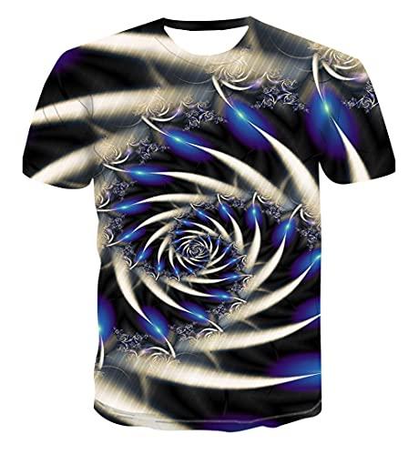 Genom tiden och rummet Unisex Mens 3D-tryckt mönster Snabbtorr T-shirt Rundhals Kortärmad Sommar Casual Grafisk topp-XXL