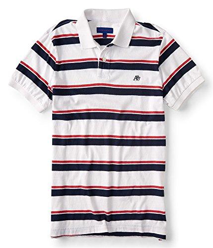 AEROPOSTALE Womens A87 Polo Shirt, White, X-Small