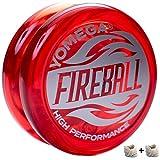 Yomega Fireball - プロのトランスアクセルヨーヨー、プロのようにパフォーマンスをしてみたい子どもや初心者に です。 予備用ストリングス×2本付き
