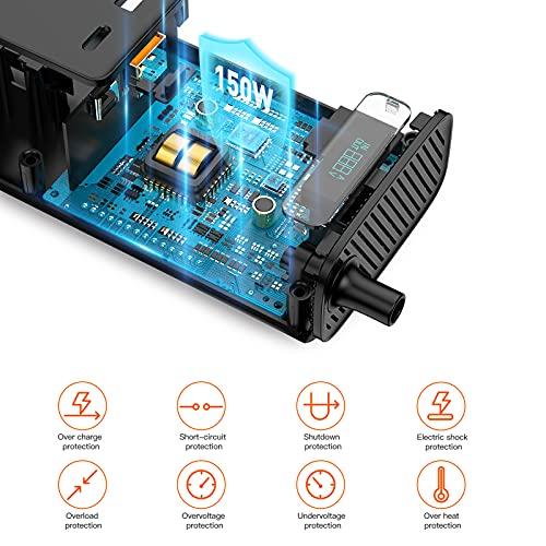 Baseus Power Inverter Car Inverter 150W DC 12V/110V Car Outlet Adapter car USB C LCD Screen with Switch and Current Outlet Adapter Power Inverters Accessories for Car