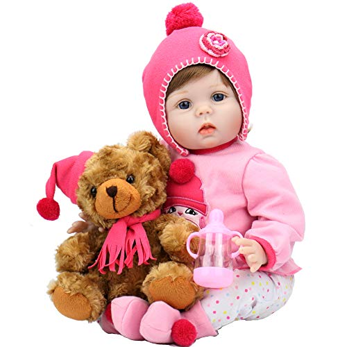 Aori Reborn Baby Doll 22 inch Realistic Baby Weighted Girl Dolls with Plush Toy and Accessories Best Birthday Gift for Girls