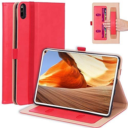 GGQQ YDYX AYDD para MI Pad 4 Plus / 10,1 Incluye 2018 Tableta de PC de Cuero de PU Vintage con Soporte y Soporte de Mano y Ranuras de Tarjetas Función (Color : Red)