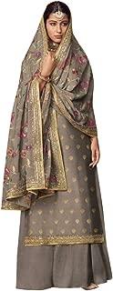 Grey Palazzo Suits Collection for Wedding Salwar Kameez Style Dress Muslim Sharara Wedding Custom to Measure Dola Silk Eid 8406