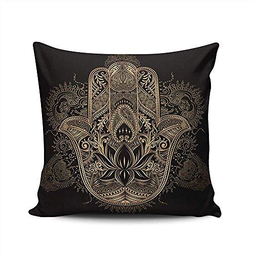 Mackinto 2 Pack Home dekorative Hamsa Hand von Fatima in indischen arabischen und jüdischen Kissenbezug Double Side gedruckt 18 * 18 Zoll