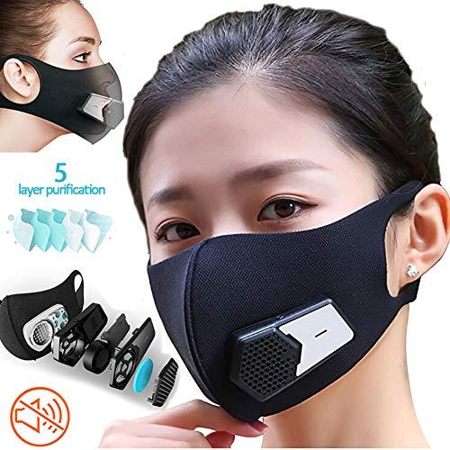 XIYAN Oral Filtro Protector eléctrico, Filtro carbón Activado,Respiración Inteligente válvulas 5 Tipos...