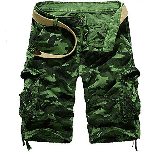Asalinao Kurze Hose Fashion Mens Casual Pocket Strand Arbeit beiläufige Kurze Hosen Shorts Hosen