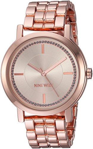 Nine West Reloj analógico para Mujer de Cuarzo japonés con Correa en Aleación NW/1642PKRG