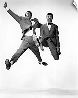 CANVAS ON DEMAND Dean Martin and Jerry Lewis in Jumping Jacks - Vintage Publicity Photo Wall Peel Art Print, 24