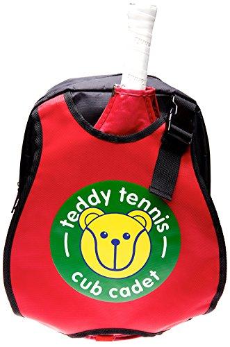 Teddy Tennis Mochila para niños, ideal para niños de 3 a 6 años, ligera, fácil de transportar, color rojo o negro