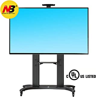 North Bayou TV Stand for Flat Screens 55-70 Inch LCD LED OLED Plasma Flat Panel Mobile TV Stand with Wheels Entertainment ...