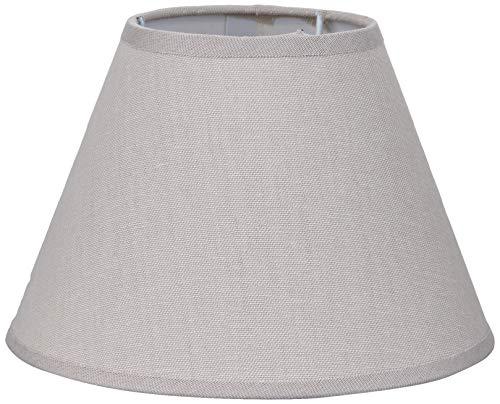 Better & Best 20 Lampenschirm aus Leinen, rund, 20 cm, Taupe