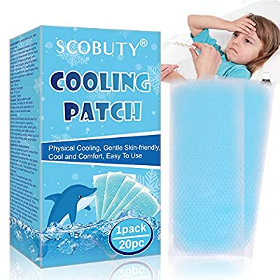 Cooling Gel Patches, Cooling Forehead Strips, Cool Gel Pads, Relieve Headache Toothache Pain Muscle Ache Drowsiness Fatigue Sunstroke, 20pc