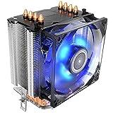 Antec CPU Cooler, Blue LED Fan 92mm, for Intel LGA 775/1150/1155/1156/1366 & AMD Socket FM1/FM2/AM3/AM3+/AM2+/AM2/AM4, A40