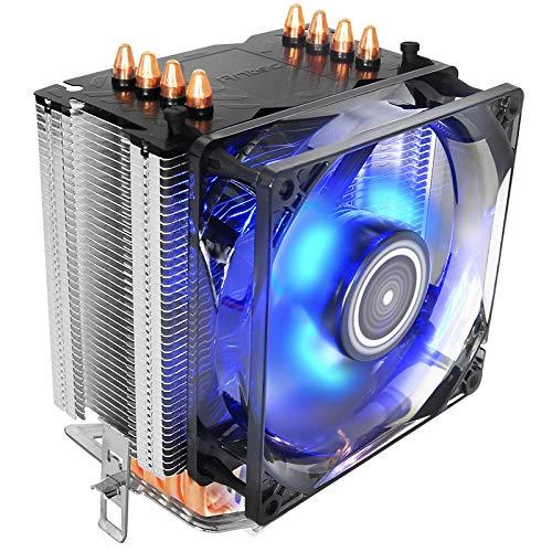 Antec C40 Procesador Enfriador - Ventilador de PC (Procesador, Enfriador, Socket AM2,Socket AM3,Socket FM1,Socket FM2+, Intel® Core™ i3, Intel Core i5, Intel Core i7, 9,2 cm, 800 RPM)