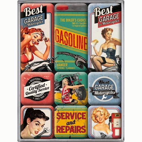 Nostalgic Art Magnet-Set 9-teilig, Bunt, Kleine