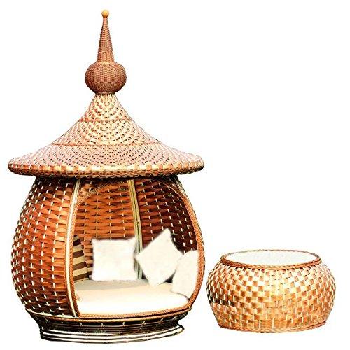 Imitatie bamboe - rotan wicker dekchair set / zonneligstoel / ligstoel / strandstoel / tuinstoel / relaxstoel / lounge stoel suit / longuer / relax stoel set / stoel liggend / stoel / stoel / stoel / stoel / salontafel / theetafel / bijzettafel
