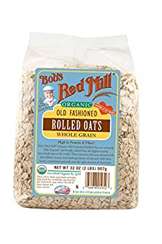 Bob s Red Mill Organic Rolled Oats 32 Ounces  Pack of 4
