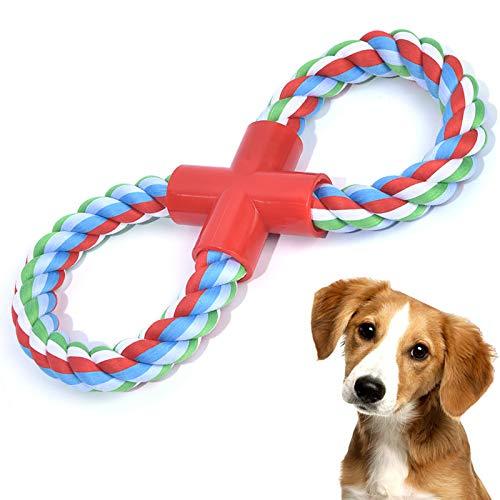 VIEWLON Hundespielzeug Seil für Klein Hunde - Form 8 Zerrspielzeug Hund Robuste Kauspielzeug Tau, Hundeseile Interaktive Kauen Spielzeug für Mittlere und Klein Hunde