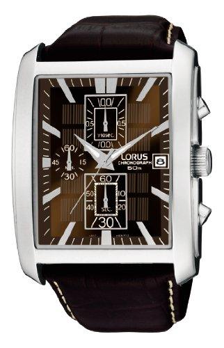 Lorus Watches Herren-Armbanduhr XL HAU Urban Chrono ZB braun Chronograph Leder RM319BX9