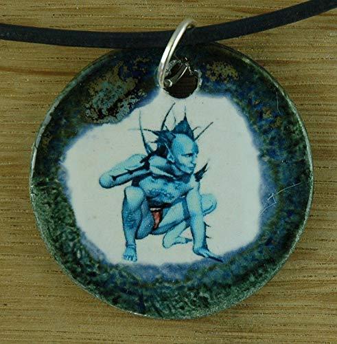 Echtes Kunsthandwerk: Toller Keramik Anhänger: Avatar; Computerspiel, fantasy