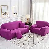 Surwin Funda de Sofá Elástica para Sofá de 1 2 3 4 plazas, Impresión Universal Cubierta de Sofá Cubre Moda Sofá Antideslizante Sofa Couch Cover Protector (Caramelo Morado,3 plazas - 190-230cm)