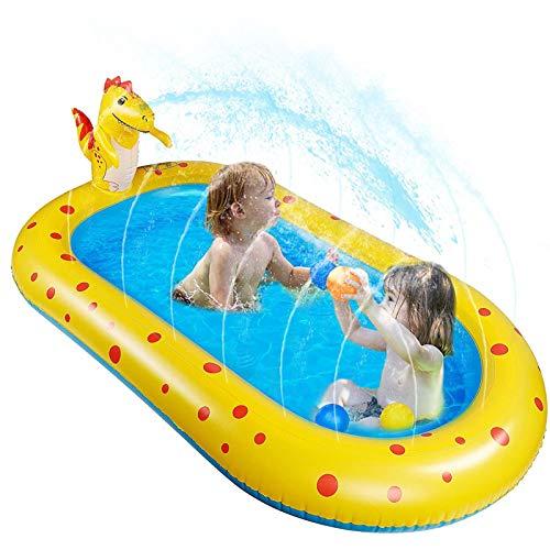 EEUK Juguete para Niños-Splash Pad, Tapete de Aprendizaje para Salpicar, Juguetes de Agua Verano para Piscina Jardín Playa para Bebés, Niños Pequeños y Niños