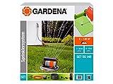 GARDENA 08221-20 Komplett-Set mit Viereck-Versenkregner OS 140