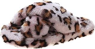 AONEGOLD Pantofole con Pelliccia Donna Ciabatte da Casa Morbido Fluffy Calde Invernali Pantofole Antiscivolo con Punta Aperta