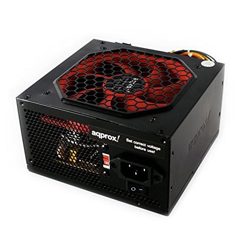 Approx APP500LITEB 500W ATX Negro Unidad de - Fuente de alimentación (500 W, 200-240, 50-63, Activo, 130 W, 468 W)