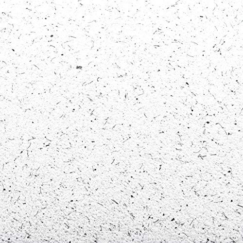 Baumwollputz Schneeweiß mit feinen scharzen Effekten - Flüssigtapete aus weißer Baumwolle und Effektmaterialien für ca. 4m²