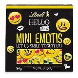 Lindt HELLO Mini Emotis Schokolade | 164g Packung | ca. 33 Schoko-Smilies aus Milch-Schokolade für Kinder | Ideal als Schokoladen-Geschenkidee