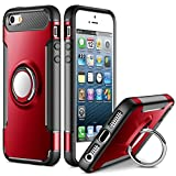 SAMONPOW Kickstand Cover for iPhone 5 Case iPhone SE Case iPhone 5s Case Slim Fit Hybrid Armor Shock Absorption Drop...