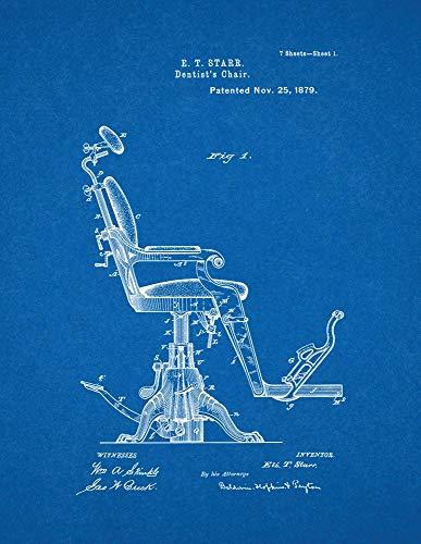 Dentist's Chair Patent Print Blueprint (11' x 14') M11878