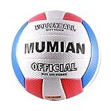 Rouku Soft Touch PU Leder 5# Volleyballball Indoor-Trainingswettbewerb im Freien Standard-Volleyballball für Studenten