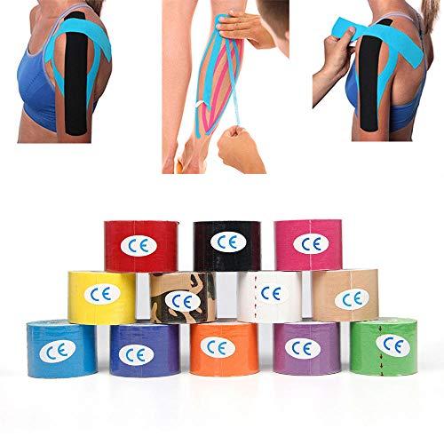 Kunyun 5cm x 5m Deportes Fitness Kinesiology Cinta Muscular Cuidado elástico Adhesivo Vendaje. (Color : Green)