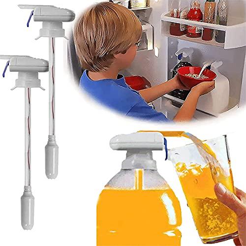 Dispensador de ventosas de jugo automático eléctrico Magic Tap, pajita automática, grifo portátil antidesbordamiento (sin batería) (2 piezas)