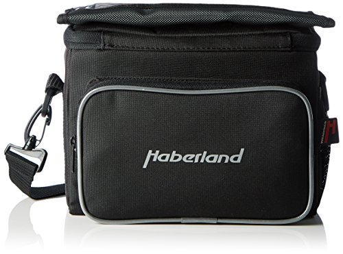 Haberland Fahrradtasche Lenkertasche 6L Schwarz Inklusive Klick-Fix-Adpter, 25 x 19 x 13cm