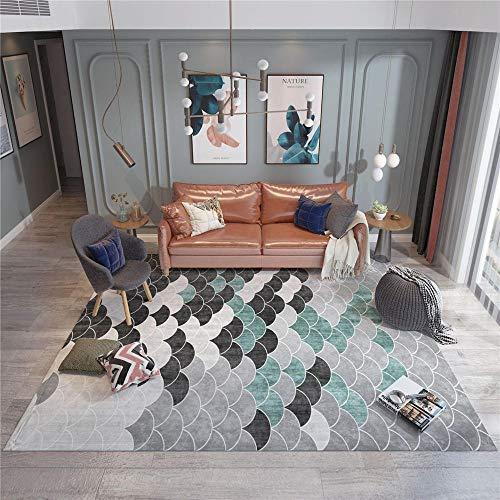 Alfombras Adornos habitacion Juvenil Alfombra de diseño geométrico Gris Negro Sala de Estar Antideslizante y Que no se decolora alfombras baño alfombras para Comedor 160*230cm